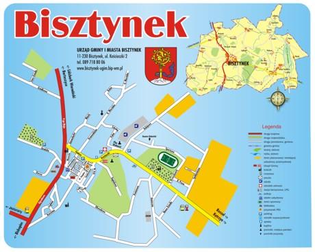 Mapa Bisztynek